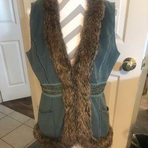 L Tracy Porter sz L, Boho Chic Vest Jacket